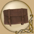 LARP Leather Pouch with two buckles